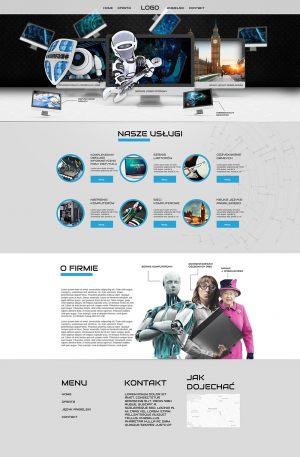 Strona WWW stworzona dla Adametronic