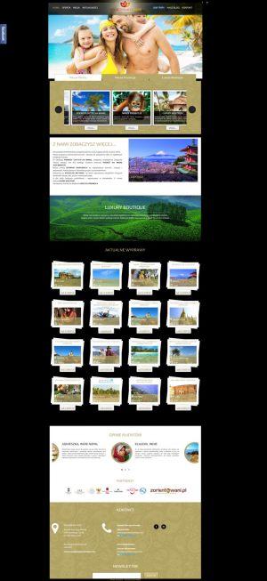 Strona WWW stworzona dla Asia Dream Trips