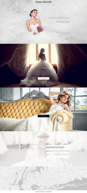 Strona WWW stworzona dla Bella Sposa