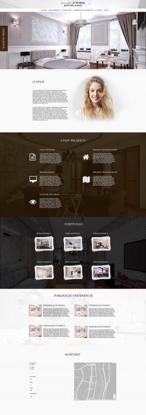Strona WWW stworzona dla JT Design
