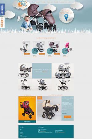 Strona WWW stworzona dla Paradise Baby