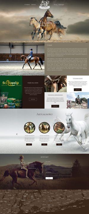 Strona WWW stworzona dla Piękny Konik