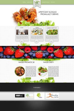 Strona WWW stworzona dla Slim Catering